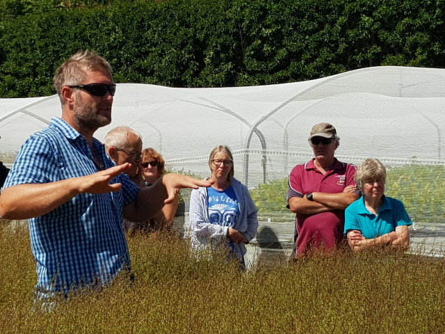 Keith Roberts (Nursery Manager) explains Appleton's outdoor operations